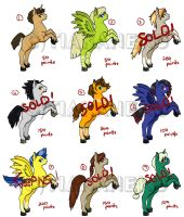 Pony adoptables (stallion edition) -OPEN- by tiakaneko