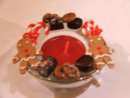 CHRISTMAS SWEET tea-light hold by Libellulina