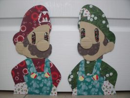 Mario and Luigi Papercraft by theRatigan