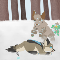 :SS: Playing in snow is fun by theashleybaka