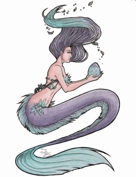 Easter Mermaid by SamanthaBranch