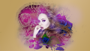 Wallpaper Vintage Adele by vaneacosta17