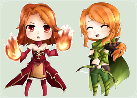 Lina and WindRunner by Haruliina