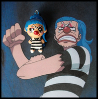Chibi-Charms: Impel Down Buggy by MandyPandaa