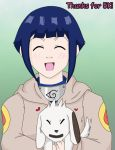 5K - Hinata and Akamaru by TeenBulma