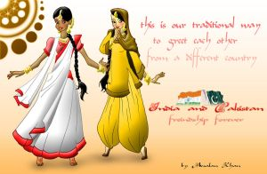 India and Pakistan Friendship by ArsalanKhanArtist