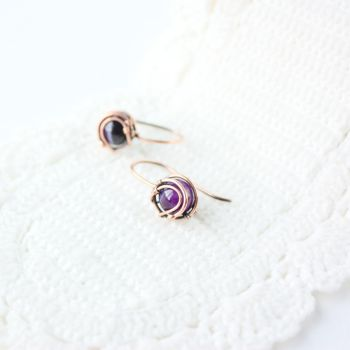Tiny Purple Earrings by WhiteSquaw
