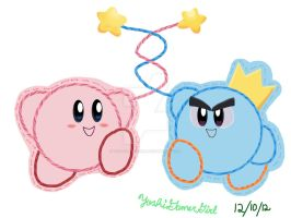 Epic Team: Kirby and Prince Fluff by YoshiGamerGirl