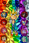Sonic Stained Glass - Our heroes are a legend by JustASonicFan