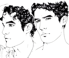 Darren Criss Portraits by lunatic-nymphet