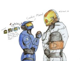 RvB: Caboose and Meta by LadySira