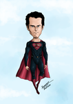 Henry Cavill (man of steel) colored by Axel2396