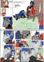 Art trade  Optimus prime comic by Shikutoki