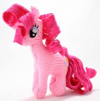 Second Pinkie Pie - Knitted Plush by SparkAbsurd