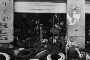Selling tires is so exciting.  by BoggyRhodes