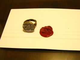 Polymer Clay Seal Ring by Henry-Crun