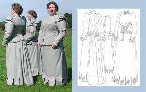 1890 Walking Dress by Janes-Wardrobe