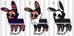 OPEN Skull Fuzzy Adoptables by LinaLeeL
