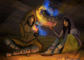 Campfire and a bit of Magic by CohenR