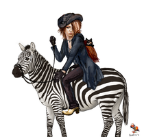 zebra by Aivelin