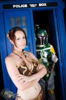 Slave Leia and Boba Fett in a TARDIS? by LadyJadedCosplay