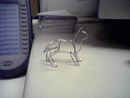 paperclip cat by thedens