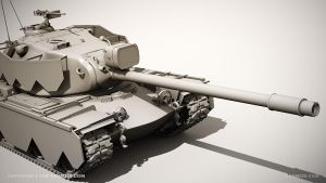 M103 heavy tank by ogami3d