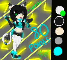 ADOPT sakuu the cyber cat OLD FC TAKEN by LittleChewrrie