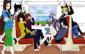 Train Trip with Friends by AbominalSnowDemon