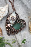 Sea Love - pendant by Egarimea