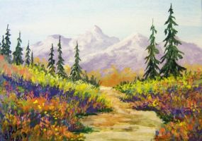 ACEO Country Roads #4 by annieoakley64