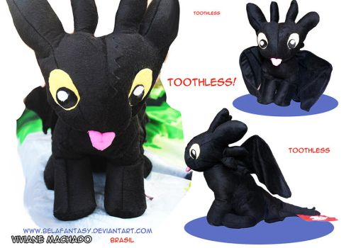 Cute Toothless plushie by belafantasy