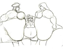 Betty between two behemoths by FatClubInc