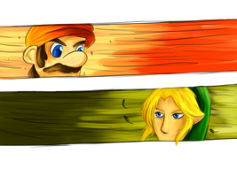 The Final Showdown: Mario vs. Link by xxConcreteRose