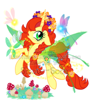 Mystery Evolving Pony Adoptable-butterfly 3rd evo by Sakuyamon