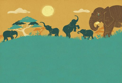 Cemetery elephants by hanno