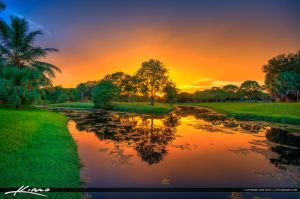 Indian-Creek-Park-Sunset-Along-Canal-Jupiter-Flori by CaptainKimo