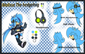 Malissa the hedgehog 2014 by Bluukio