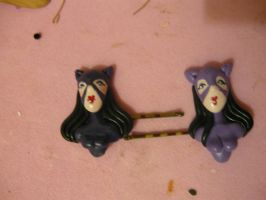 Catwoman hair clips by sagaslover