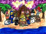 Lego and the Nativity by SonicClone
