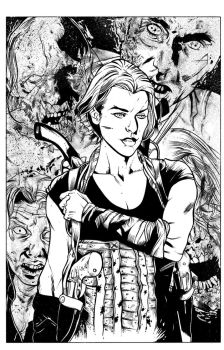 Resident Evil pin up by JamesWhynotInks