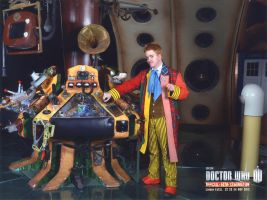 6th Doctor in his TARDIS by silveriatha
