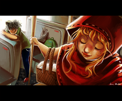 Riding Hood's Bus Stop by GDBee