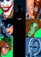 """Batman and his """"friends"""" by AMBONE105"""