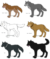 Wolf's Rain Wolves by flamearcher909