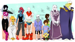 Undertale characters by AppleBets