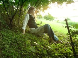 By the Riverside - Model 13 by faceless-stock
