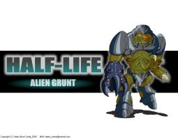 Alien Grunt from Half-Life - Wallpaper by Tadeu-Costa