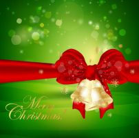Christmas-Bells-Green-Background by vectorbackgrounds