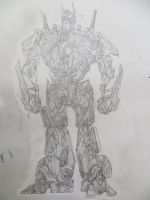 Optimus Prime 'Desk Drawing' by LostHelix119